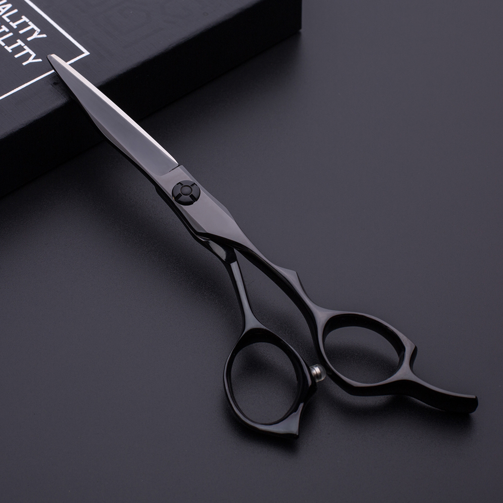 Professional hair scissors 440C japanese steel black coated hair scissors
