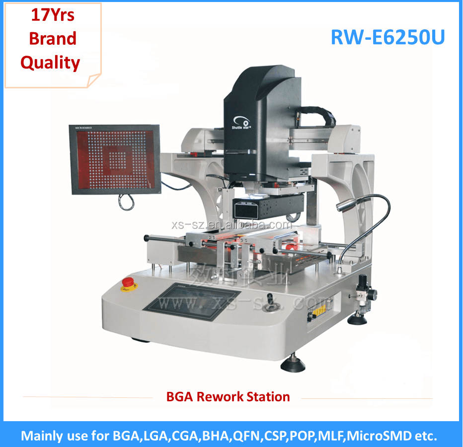 Best IR heating RW-E6250 PLC Control BGA repair station soldering machine