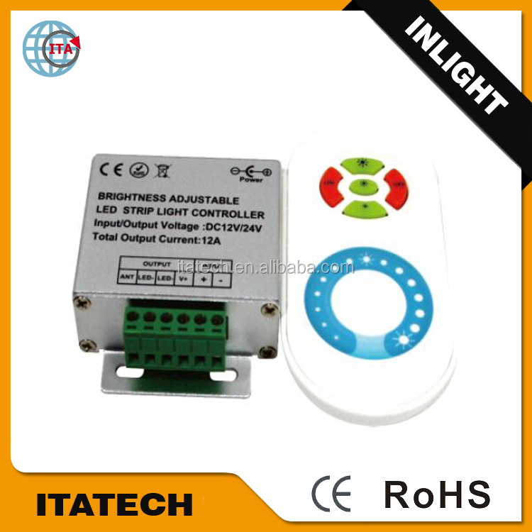 12V~24VDC 20~30m remotecontrol distance 443M single color light touch panel controller/Dimmer