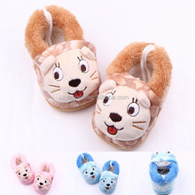 Fancy New arrival cute animal shape cotton stuffed plush warm baby winter shoes