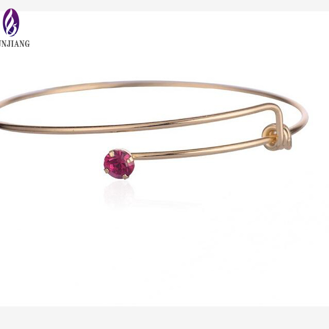 Jewelry fashion accessories gold plated birthstone crystal jewellery bracelet