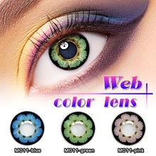 Cosplay White Out Crazy Contact Lens Fashion Look Full cover eye unique feature contacts