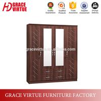 Factory Wholesale Wooden Almirah Designs in Bedroom Wall