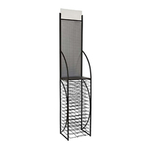 Multiple Tiers Door Mat / Towel Storage Display Rack- Black Metal