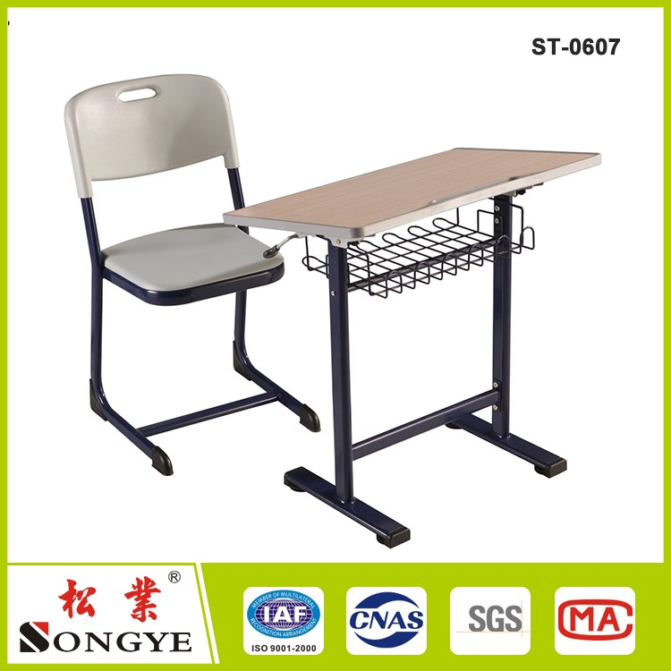 Cheap used kids furniture adjustable kids study table and chair writing desk and chair