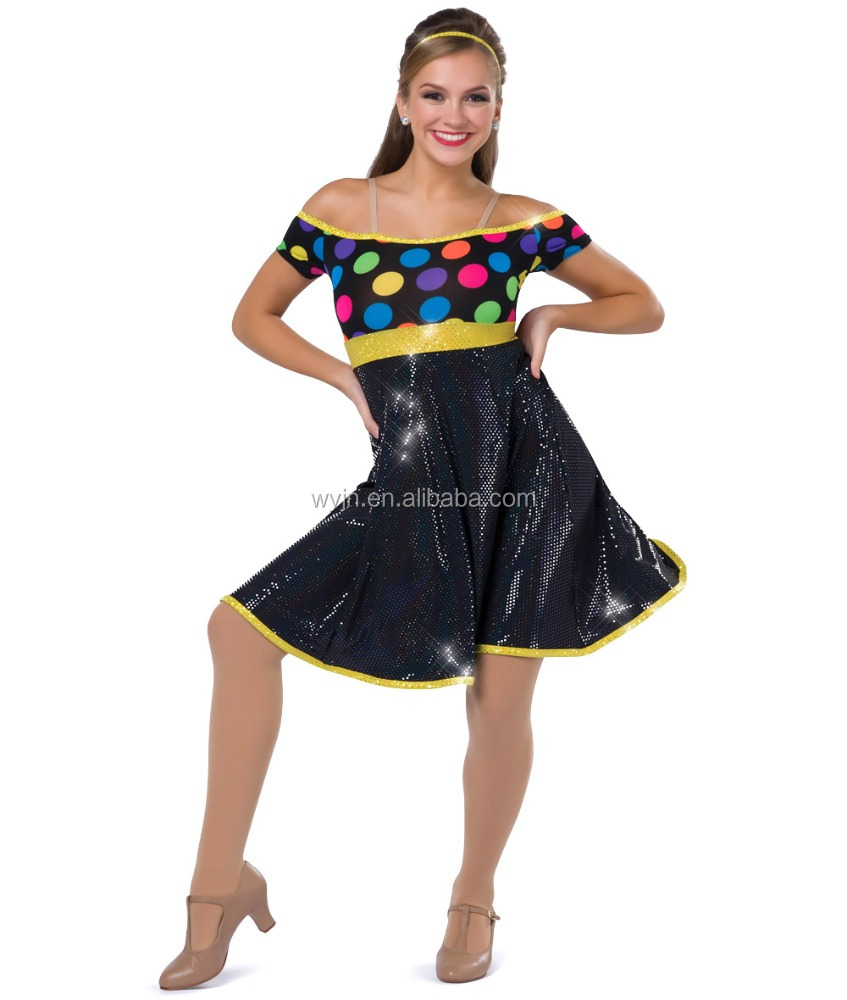 New arrival design cheap colorful dance dresses,ballroom dancing dresses china