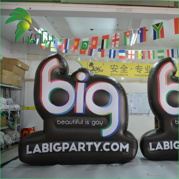 Giant Inflatable Advertising Missile Sign Customized Inflatable Billboard for Outdoor Events Display
