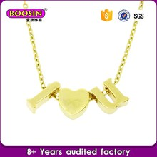 New designs pendant necklace name plated,gold chain jewelry