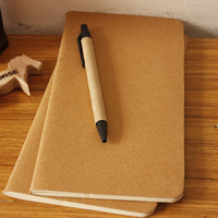Cowhide paper kraft cover journal notebook