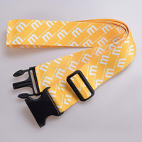 Wholesale Custom Adjustable polyester luggage belt with lock