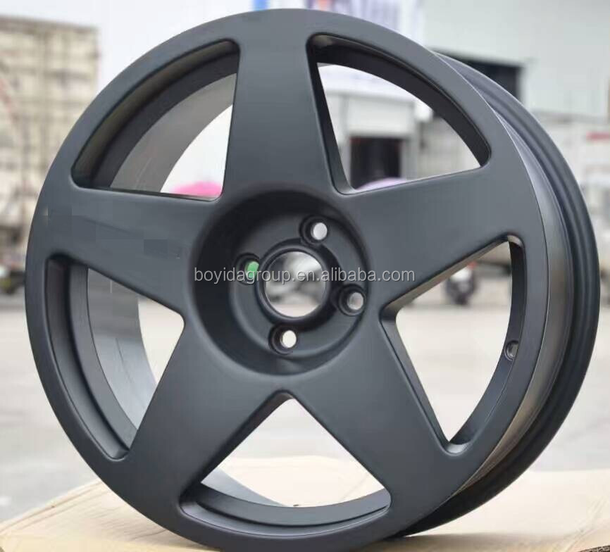 High Quality Deep Dish Black Machined Face Replica Aluminum Alloy Wheel