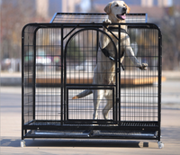 2017 New Products Foldable Stainless Steel High Quality Pet Dog Cage With Wheels