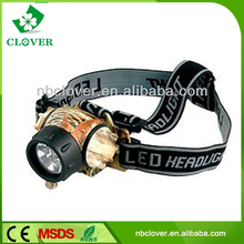 Multi-functional button switch 3 led head lamp for mining