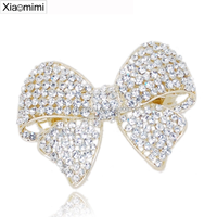 Elegant pearl bowknot hairpin diamond top clamp sexy hair hairpin