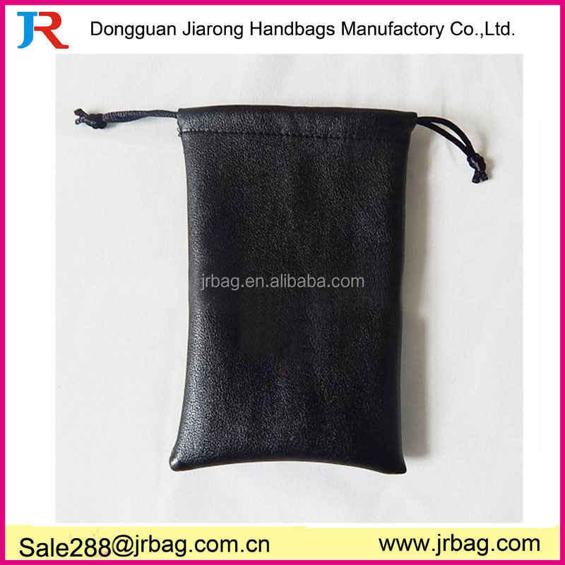 Embossed Leather Jewelry Pouch