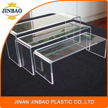 JINBAO factory hot selling store used upscale clear acrylic cone jewelry ring display stands