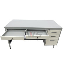 Office executive corner computer table stainless steel office desk