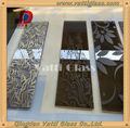 Tempered Glass for Building and furniture sauna door glass etched glass
