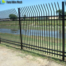 Easily Assembled PVC Coated cheap used wrought iron fencing for sale