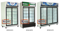 09YM sliding glass door Static/Air Cooling Display Chiller/Freezer /Cabinet/refrigerated glass door showcase/display cooler