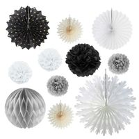 Paper Decoration Fan Tissue Paper Fan Decoration