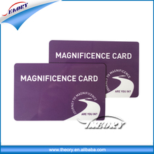 hot 13.56mhz rfid classic rfid smart card/business card/ membership card