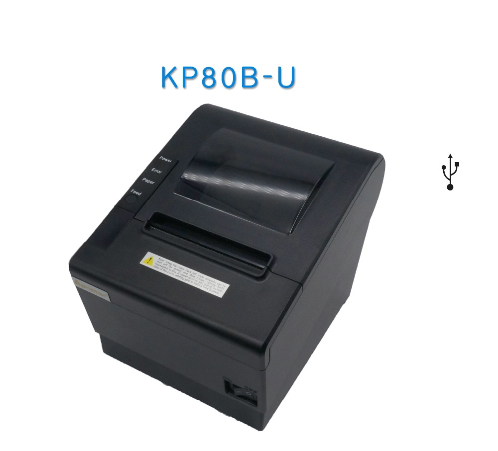 big gear USB printer thermal 80mm for kitchen receipt printing