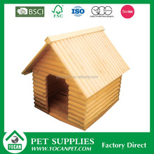 Accept custom order Natural wooden double dog kennel