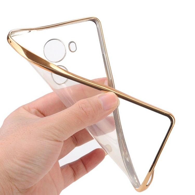 Electroplating TPU mobile phone accessories case for huawei p8 lite mobile phone cover