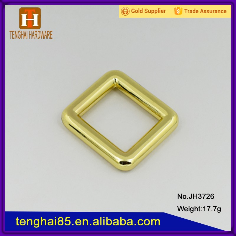 Custom wire formeds quare ring metal accessories for bags