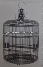 Outdoor & indoor large sainless steel round bird cage, standing bird cage for sale
