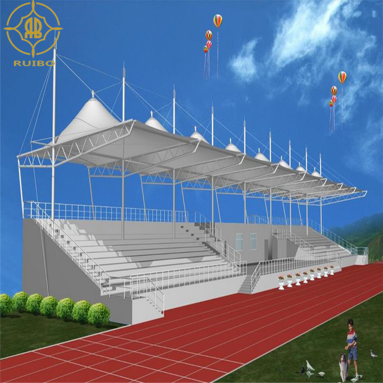 2018 sunshade tensile fabric membrane stadium bleachers