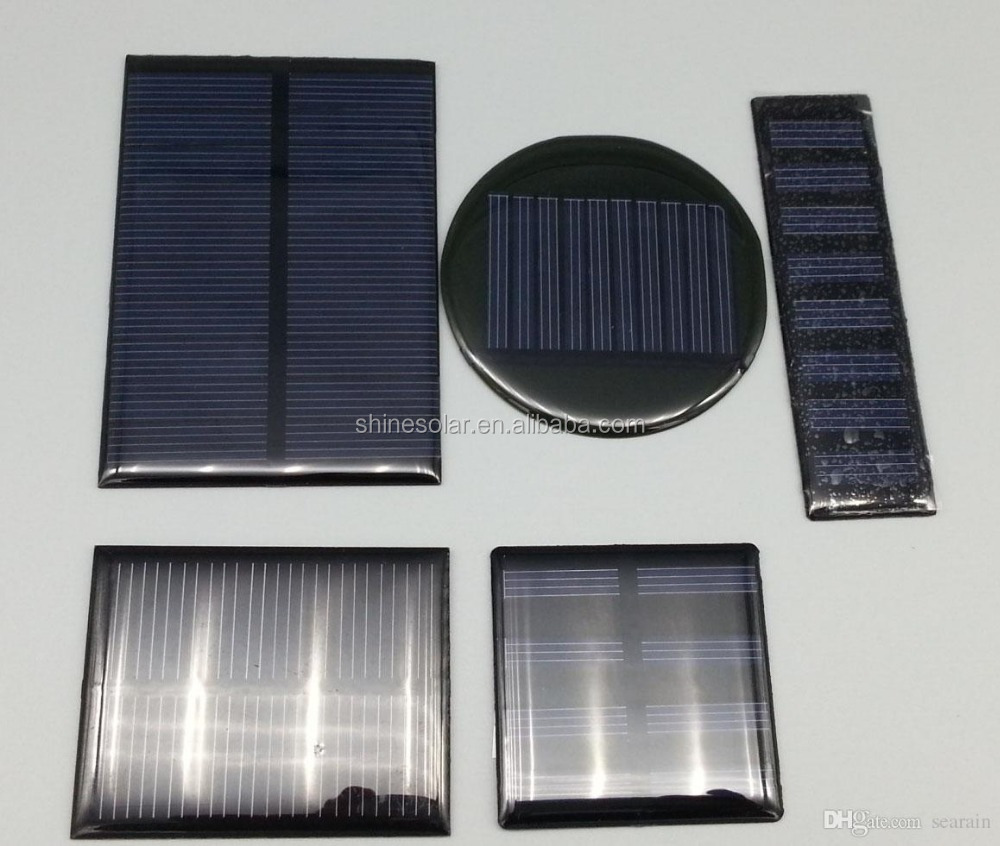 .DIY Mini Poly Crystalline Solar celll 4V 80 ma Epoxy Solar Panel For 3.7V Battery