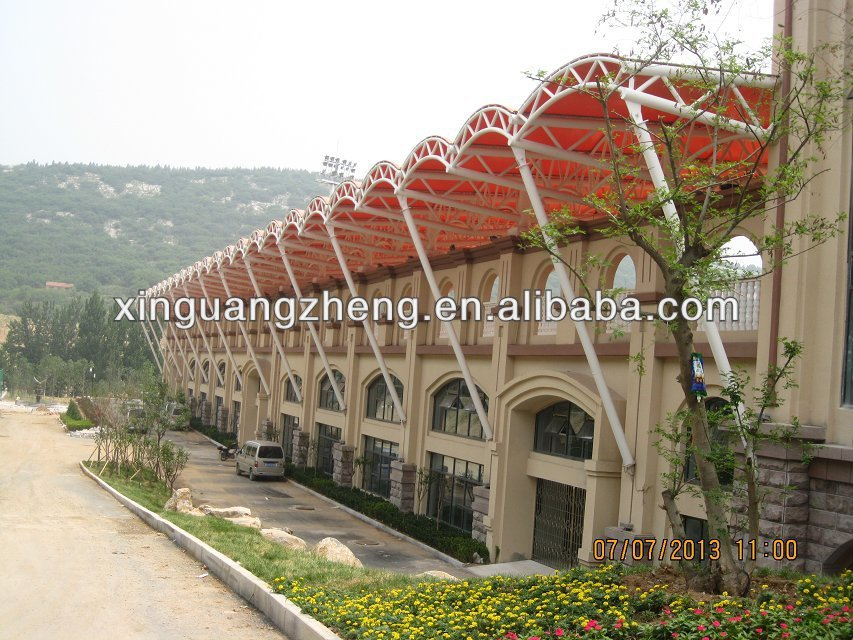 prefabricated steel building space truss structure football field house