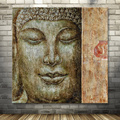 handmade abstract Buddha oil painting for decoration