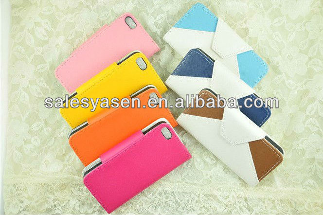 For Apple iPhone 5 2013 hot selling flip leather case cover for iphone 5