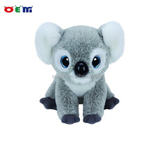 Dongguan Factory 3D plastic big eyes cat plush toy animal glitter eyes giant plush toys