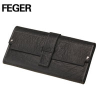 Feger Customized Style Men's Coin Purse Genuine Leather Wallets