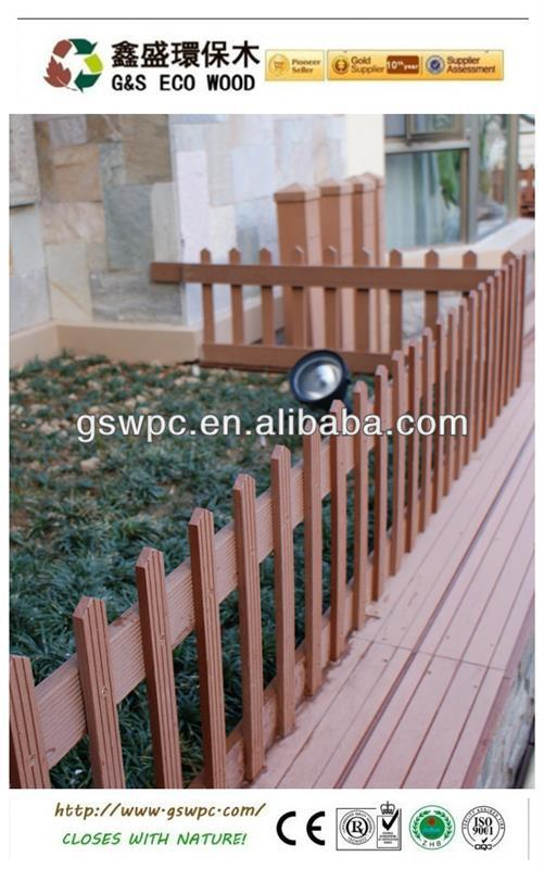 Various types of outdoor wpc fence / wpc railing