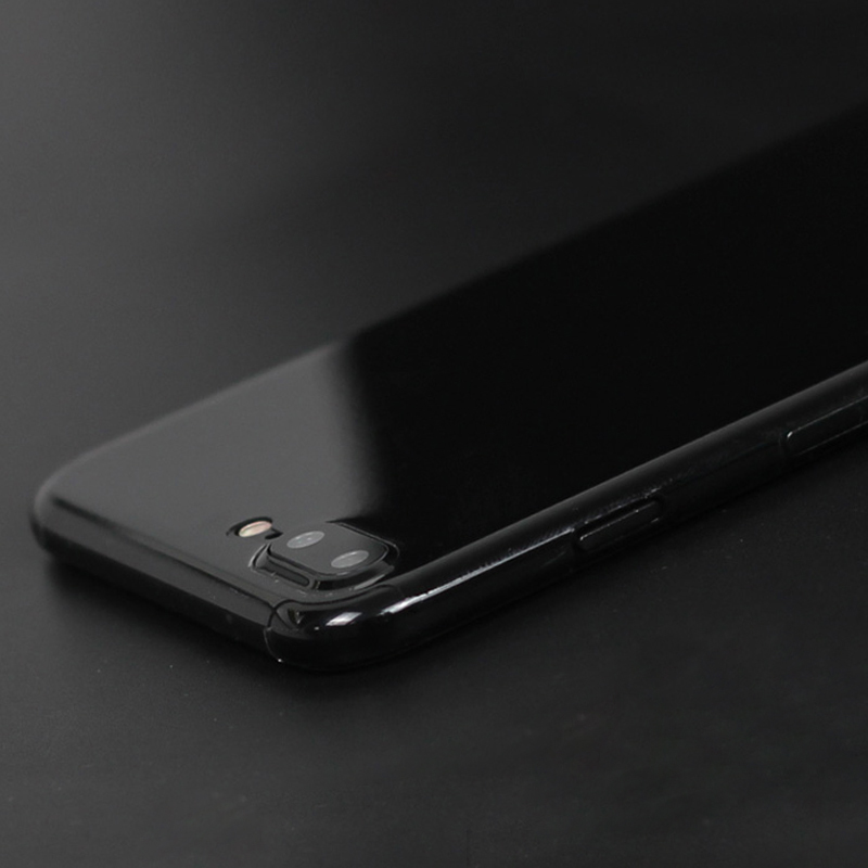 jet black TPU back film front and back invisible shield for iphone7 and 7 plus