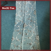 China supplier different color 100%polyester organza burnout curtain drapery