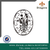 China supplier small metal ornaments wrought iron gate designs