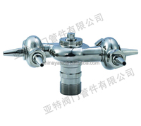 Sanitary stainless steel screwed Rotary Cleaning Ball ss304 ss316 ,double cleaning ball