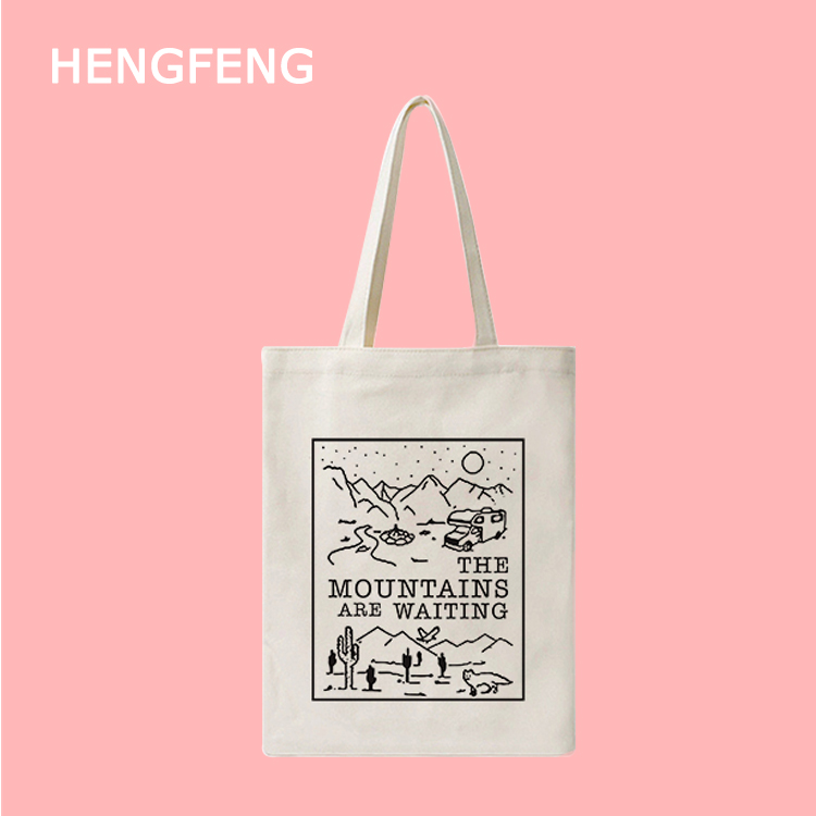 Wholesale Promotional recycle durable eco wholesale plain logo printed custom canvas cotton tote bag