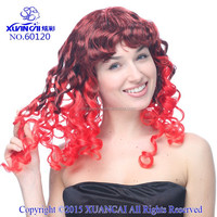 Wholesale synthetic hair red and black passion wigs