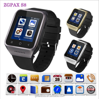 2016 Smart Watch S8 Android 4.4 system with 5M pixels Webcam Wifi FM for Android Smart phones Support SIM Card smartwatch phone