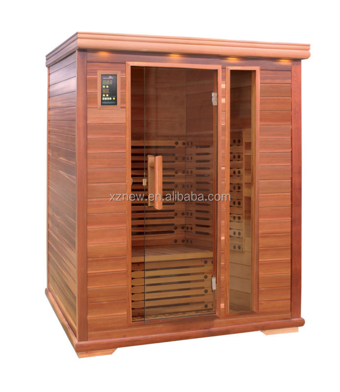 outdoor wood doors/ infrared sauna dry sauna hemlock barrel cedar cabin