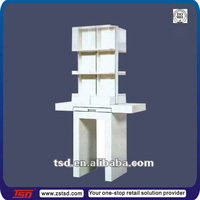 TSD-W036 Custom modern white display shelf/shelf floor display stands/white wooden display cabinets