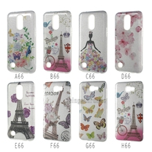 3 in 1 Bling Shining Customized Colors Painted Eiffel Tower Phone Case For LG LV5 Glitter Case