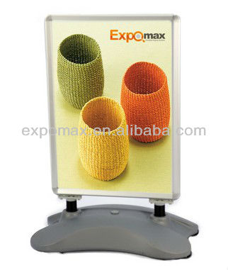 A1 Snap Outdoor Poster Display Stand Water Base - Portable Outdoor Sidewalk; Outdoor Poster Display Stand
